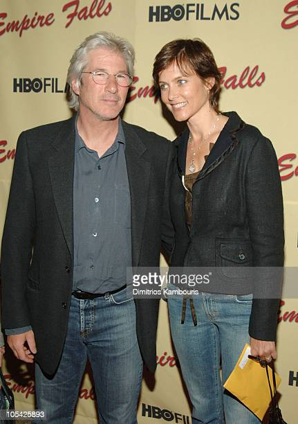 Richard Gere and Carey Lowell during Empire Falls HBO Films New York Premiere Arrivals at Metropolitan Museum of Art in New York City New York United...