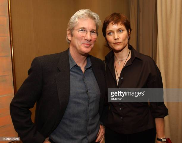Richard Gere and Carey Lowell during Miramax 2003 MAX Awards Inside at St Regis Hotel in Los Angeles California United States