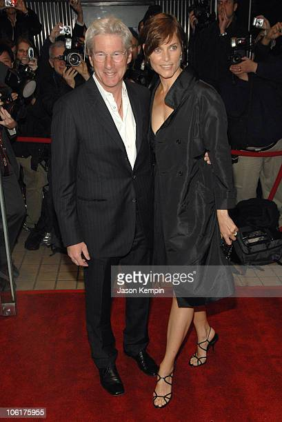Richard Gere and Carey Lowell during Miramax Films Presents The New York Premiere Of The Hoax April 1 2007 at Cinema 13 in New York City New York...