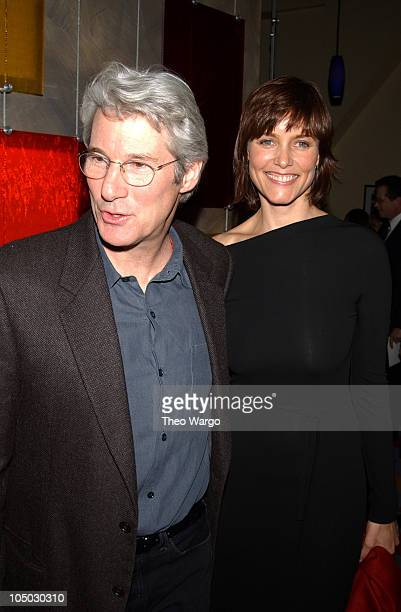 Richard Gere and Carey Lowell during The 2002 New York Film Critics Circle 68th Annual Awards Dinner Inside at Noche Restaurant in New York City New...