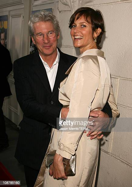 Richard Gere and Carey Lowell during The Hoax Los Angeles Premiere Red Carpet at Mann Festival in Westwood California United States