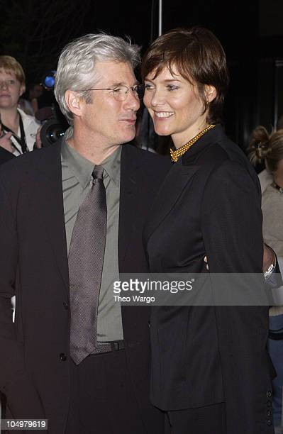 Richard Gere and Carey Lowell during Unfaithful New York Premiere at Ziegfeld Theatre in New York City New York United States