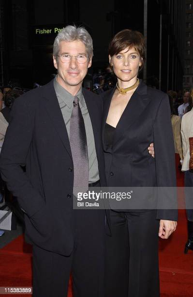 Richard Gere and Carey Lowell during Unfaithful Premiere New York at Ziegfeld Theater in New York City New York United States