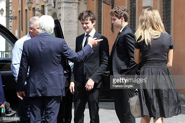 Richard Gere and his son Homer James Jigme Gere and girlfriend Alejandra Silva arrive at 'Un Muro o Un Ponte' Seminary held by Pope Francis at the...