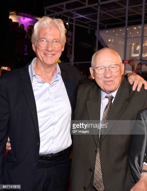 Richard Gere and Homer George Gere attend the 'Three Christs' premiere during the 2017 Toronto International Film Festival at Roy Thomson Hall on...
