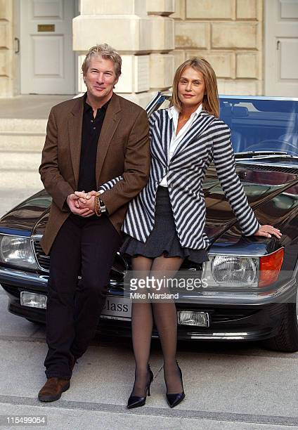 Richard Gere and Lauren Hutton during Giorgio Armani 'A Retrospective' Sponsored By Mercedes at The Royal Academy Courtyard in London Great Britain