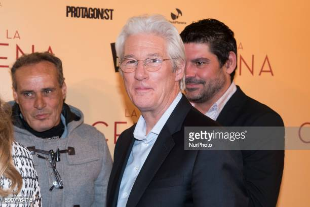 Richard Gere and RAIS foundation people attend the 'The Dinner' movie premiere at 'Capitol Cinema' in Madrid on Dec 11 2017