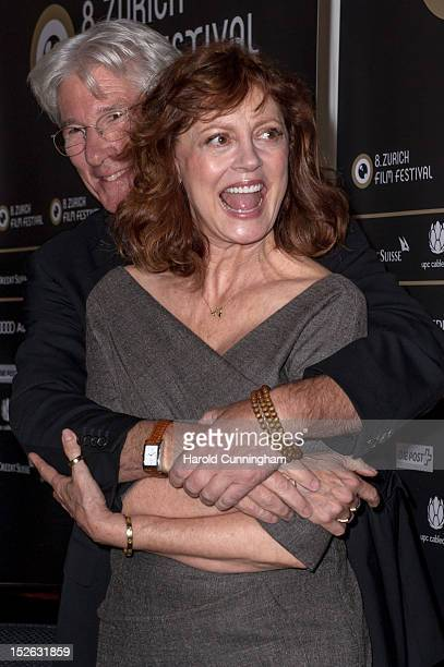 Richard Gere and Susan Sarandon attend the 'Arbitrage' press conference as part of the Zurich Film Festival 2012 at the Baur au Lac Hotel on...
