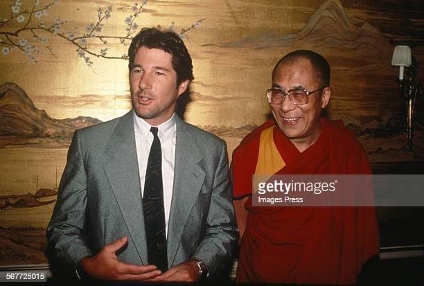 Richard Gere and the 14th Dalai Lama circa 1987 in New York City.