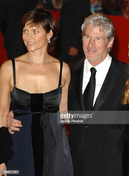 Richard Gere and wife Carey Lowell during 1st Annual Rome Film Festival The Hoax Premiere at Auditorium Parco della Musica in Rome Italy