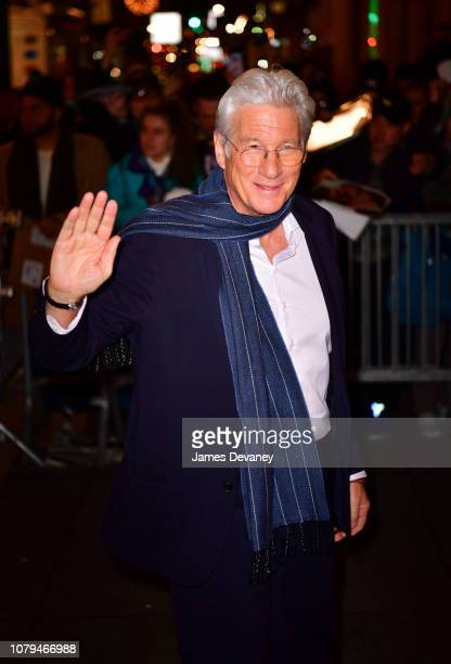 Richard Gere arrives to the 2019 National Board Of Review Gala at Cipriani 42nd Street on January 8, 2019 in New York City.