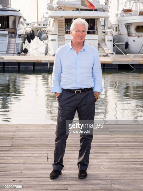 Richard Gere attend the Motherfatherson photocall as part of the MIPCOM 2018 on October 15, 2018 in Cannes, France.