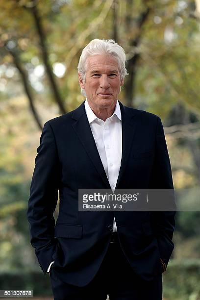 Richard Gere attends a photocall for 'Franny' at Villa Borghese on December 14 2015 in Rome Italy