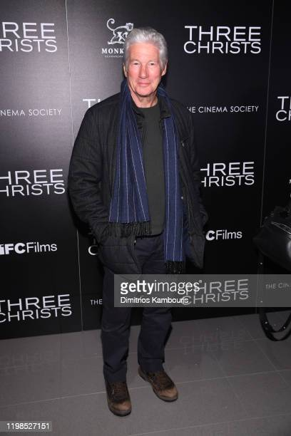 """Richard Gere attends a screening of """"Three Christs"""" hosted by IFC and the Cinema Society at Regal Essex Crossing on January 09, 2020 in New York City."""
