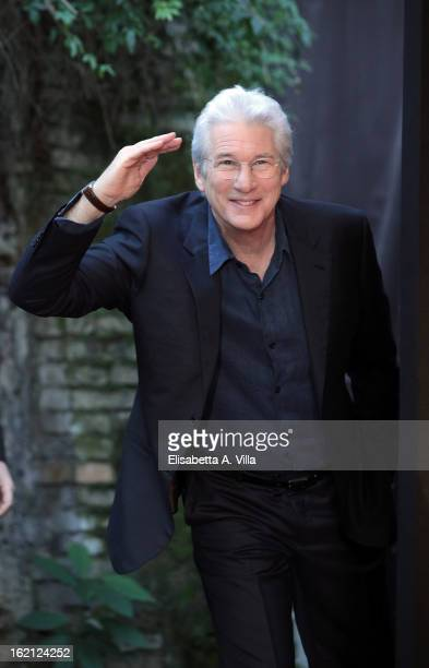 Richard Gere attends 'Arbitrage' photocall at Hotel de Russie on February 19 2013 in Rome Italy