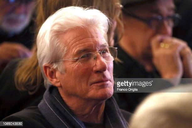 Richard Gere attends Bernardo Bertolucci Memorial at Teatro Argentina on December 6, 2018 in Rome, Italy.