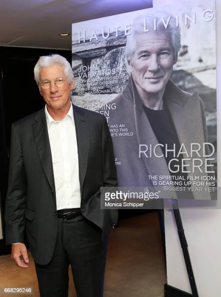Richard Gere attends Haute Living Honors Richard Gere with RollsRoyce and Hublot at The Clocktower at the New York EDITION on April 13 2017 in New...