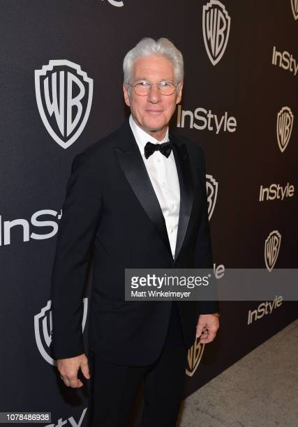 Richard Gere attends the 2019 InStyle and Warner Bros. 76th Annual Golden Globe Awards Post-Party at The Beverly Hilton Hotel on January 6, 2019 in...