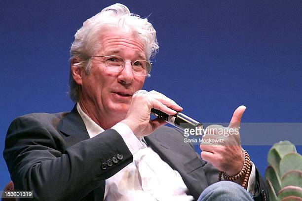 Richard Gere attends the Conversation With Richard Gere Alec Baldwin during the 20th Hamptons International Film Festival at Guild Hall on October 6...