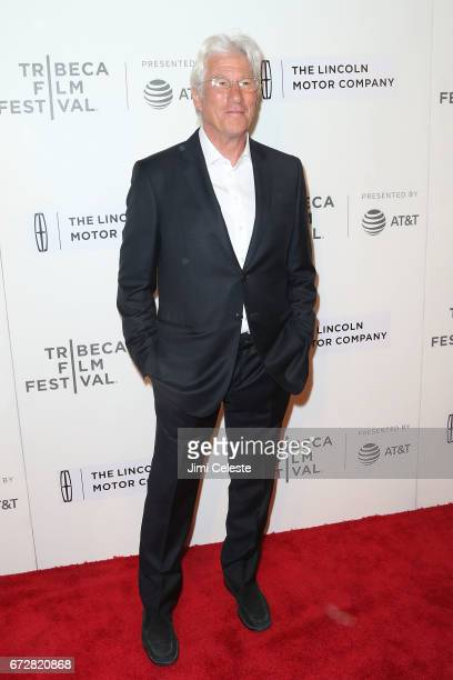 Richard Gere attends 'The Dinner' Premiere 2017 Tribeca Film Festival at BMCC Tribeca PAC on April 24 2017 in New York City
