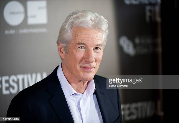 Richard Gere attends the UK premiere of Time Out Of Mind at The Glasgow Film Festival on February 28 2016 in Glasgow Scotland