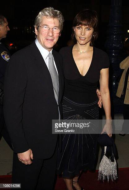 Richard Gere Carey Lowell during Chicago Premiere in Los Angeles at The Academy in Beverly Hills California United States