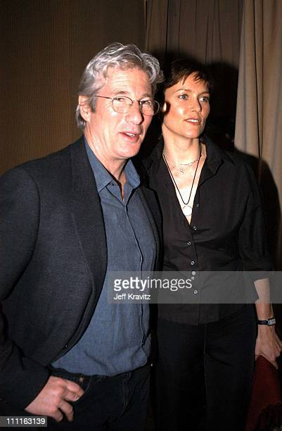 Richard Gere Carey Lowell during Miramax Max Awards at St Regis Hotel in Los Angeles CA United States
