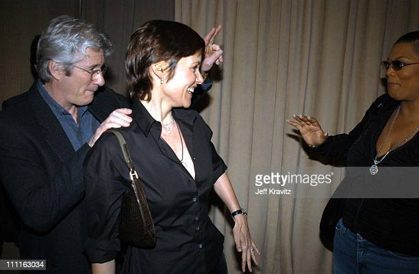 Richard Gere Carey Lowell Queen Latifah during Miramax Max Awards at St Regis Hotel in Los Angeles CA United States