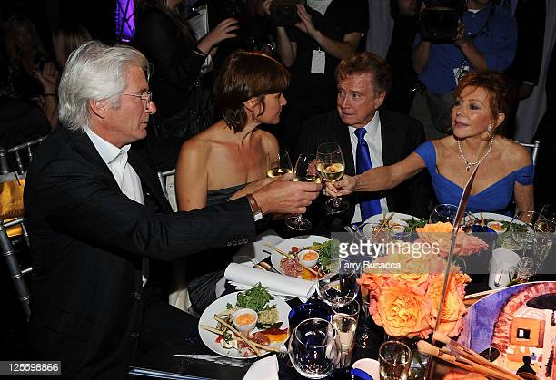 Richard Gere Carey Lowell Regis Philbin and Joy Philbin attend Tony Bennett's 85th Birthday Gala Benefit for Exploring the Arts at The Metropolitan...