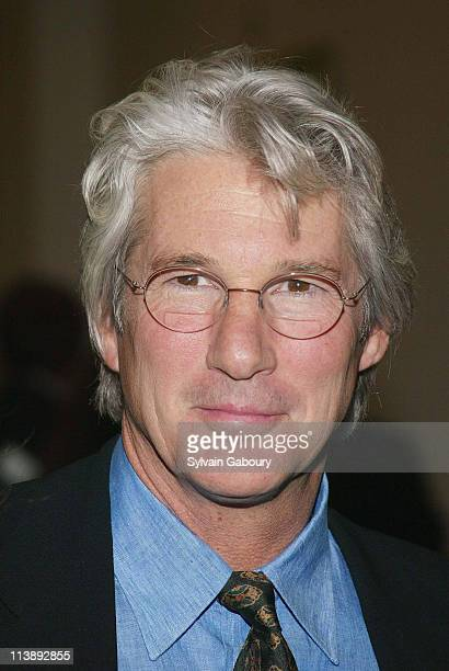 Richard Gere during amfAR and ACRIA Honor Herb Ritts for His Work and Activism at Sotheby's in New York New York United States