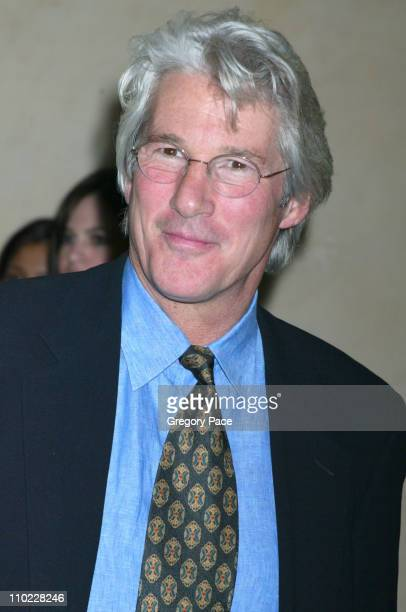 Richard Gere during amfAR and ACRIA Honor Herb Ritts with a Sale of Contemporary Artwork Inside Arrivals at Sothebys in New York City New York United...