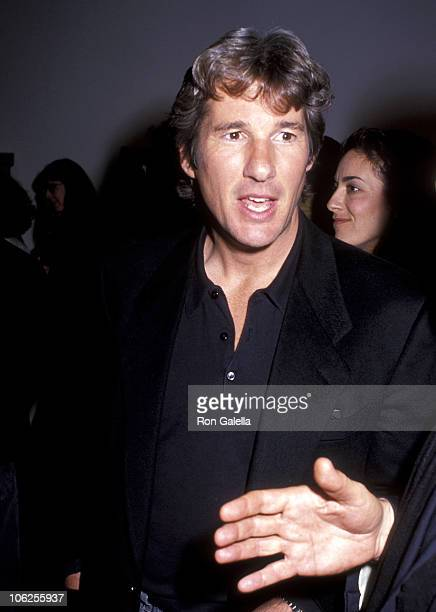 Richard Gere during Exhibition for Tibet House by Richard Gere November 27 1990 at Fahey Klein Gallery in Los Angeles California United States
