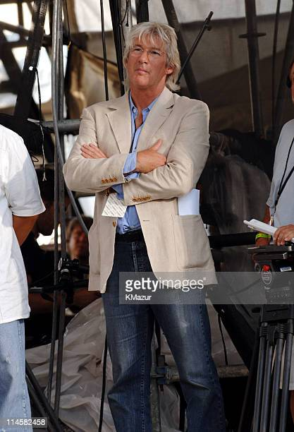 Richard Gere during LIVE 8 Philadelphia Backstage at Philadelphia Museum of Art in Philadelphia Pennsylvania United States