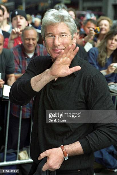 Richard Gere during Richard Gere appears on 'Late Show with David Letterman' May 7 2006 at Ed Sullivan Theater in New York City New York United States