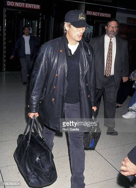 Richard Gere during Richard Gere Sighting at Los Angeles International Airport February 13 1997 at Los Angeles International Airport in Los Angeles...
