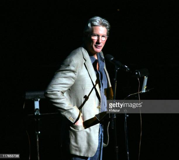 Richard Gere during The ACLU Freedom Concert and After Party at Avery Fisher Hall in New York City New York United States