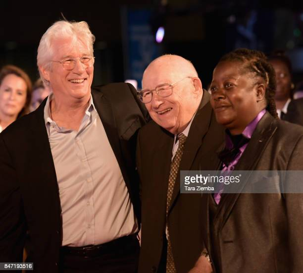 Richard Gere , Homer George Gere and guest attend the 'Three Christs' premiere during the 2017 Toronto International Film Festival at Roy Thomson...
