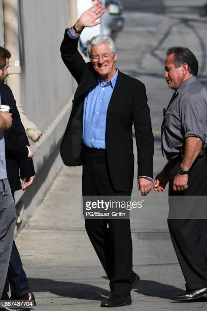 Richard Gere is seen at Jimmy Kimmel Live on April 11 2017 in Los Angeles California