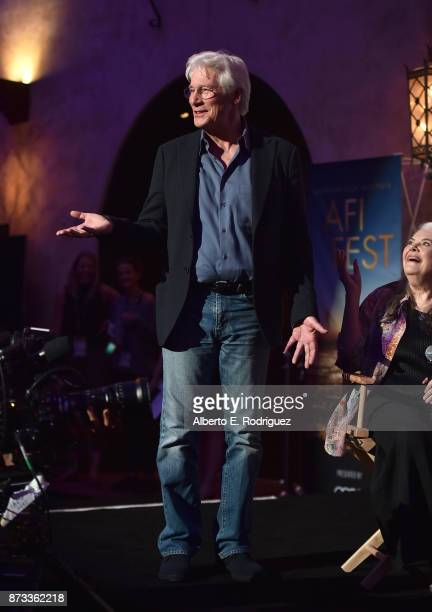 Richard Gere is seen onstage during Indie Contenders Roundtable at AFI FEST 2017 Presented By Audi at Hollywood Roosevelt Hotel on November 12 2017...