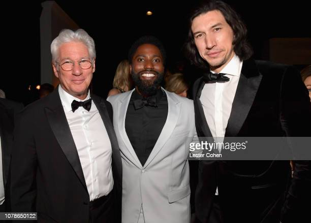 Richard Gere John David Washington and Adam Driver attend the 2019 InStyle and Warner Bros 76th Annual Golden Globe Awards PostParty at The Beverly...