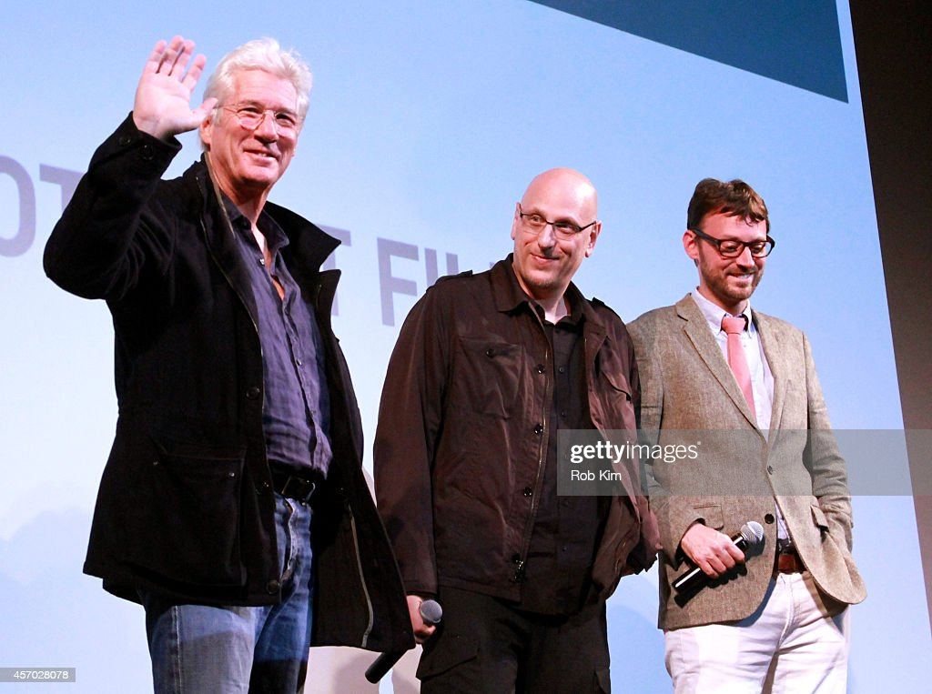 Richard Gere, Oren Moverman and David Nugent speak at the 'Time Out of Mind' premiere during the 2014 Hamptons International Film Festival on October 10, 2014 in East Hampton, New York.