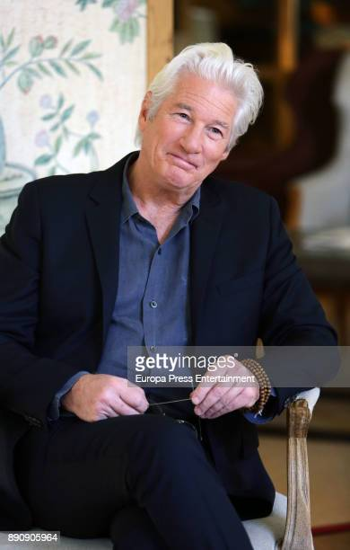 Richard Gere poses for a photo session on December 12 2017 in Madrid Spain