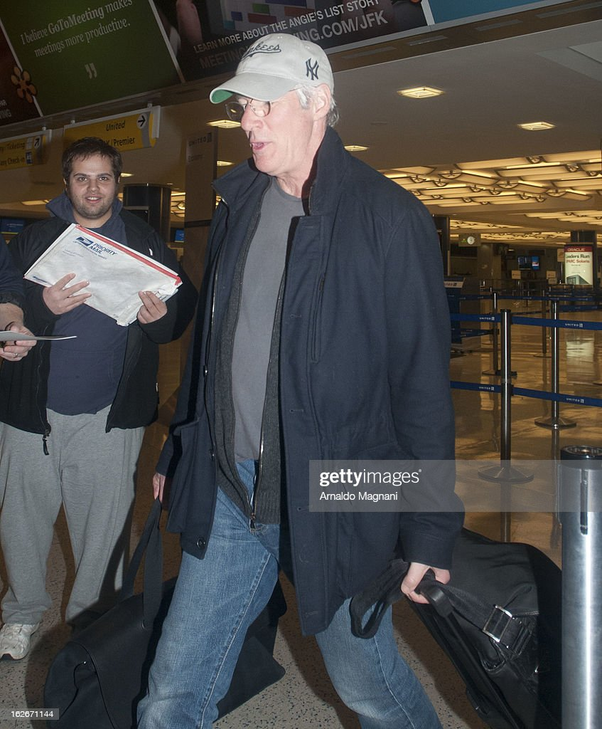 Richard Gere sighting on February 25, 2013 in New York City.