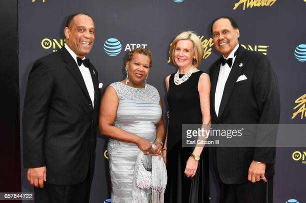 Richard Giles Central City Productions President/COO Erma Davis Grace Giles and Central City Productions Chairman/CEO Don Jackson arrive at the 32nd...