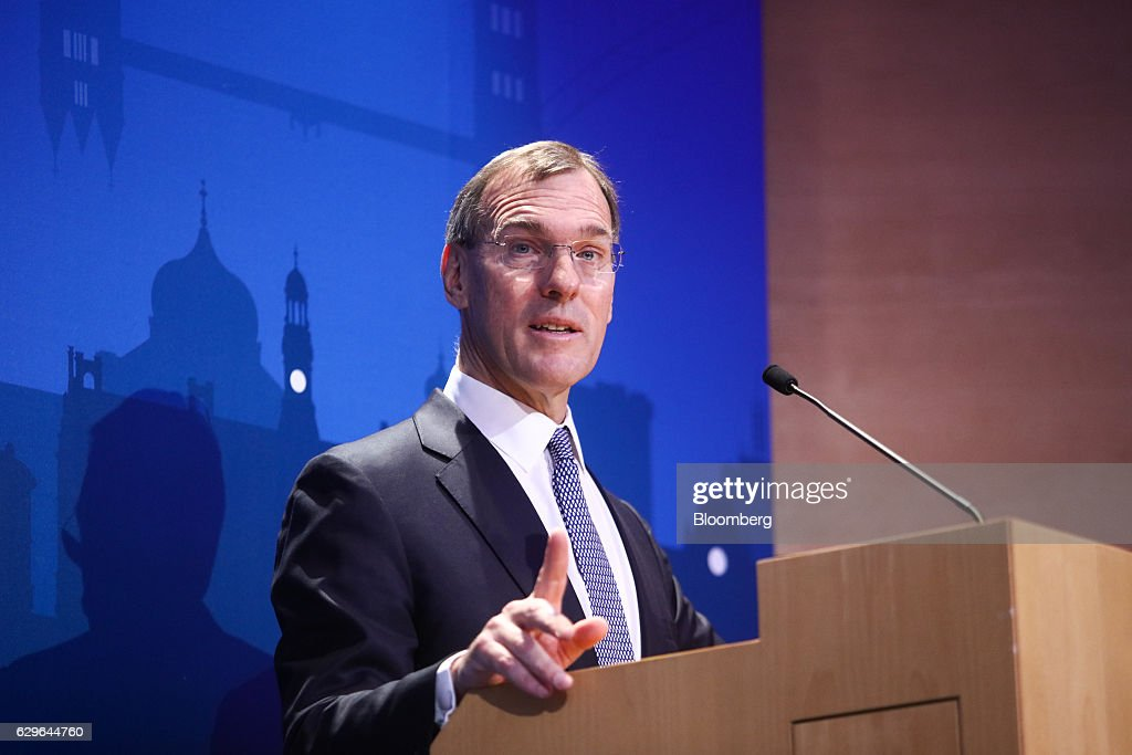 Richard Gnodde, co-chief executive officer of Goldman Sachs Intl, speaks at the 10,000 Small Businesses (1OKSB) Partnership Event at their offices in London, U.K., on Wednesday, Dec. 14, 2016. The 'pendulum happily has swung by' the era when people criticized Goldman Sachs executives taking positions in public service, Blankfein said at the event. Photographer: Chris Ratcliffe/Bloomberg via Getty Images