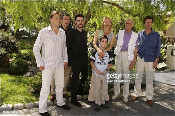 Richard Gotainer, Jeremie Covillault, Alexandra Vandernoot, Leo Uzan, Edward Meeks, Philippe Caroit in Monaco on July 01, 2005.