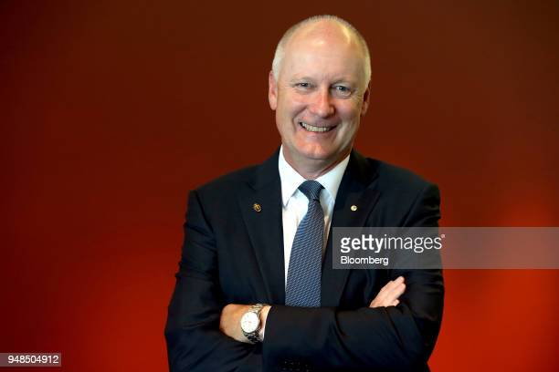 Richard Goyder incoming chairman of Woodside Petroleum Ltd poses for a photograph following the company's annual general meeting in Perth Australia...