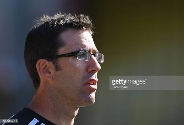 Richard Graham the coach of Saracens until the end of the season looks on during the Guinness Premiership match between Saracens and Bath at Vicarage...