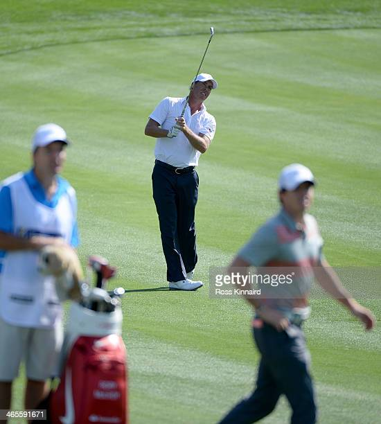 Richard Green of Australia on the 12th fairway during the Champions Challenge prior to the Omega Dubai Desert Classic on the Majlis Course on January...