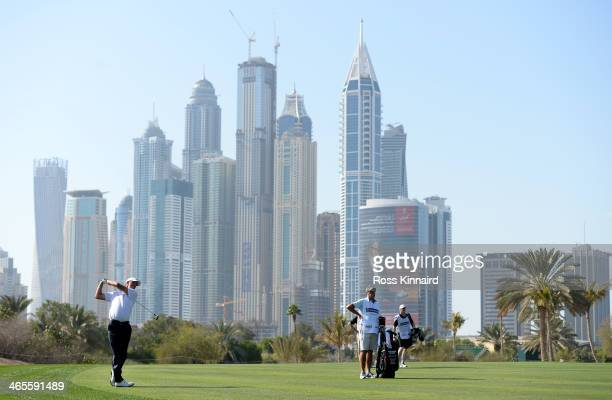 Richard Green of Australia on the 13th fairway during the Champions Challenge prior to the Omega Dubai Desert Classic on the Majlis Course on January...
